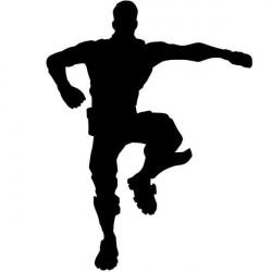 Autocolante de parede Fortnite dança