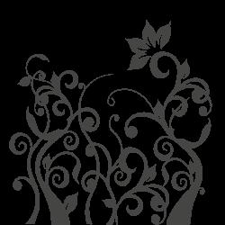 Adesivo decorativo de trepadeiras
