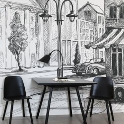Foto mural desenho a lápis
