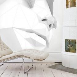 Vinil de parede cara em 3D