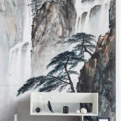Decorativo desenho de cascatas