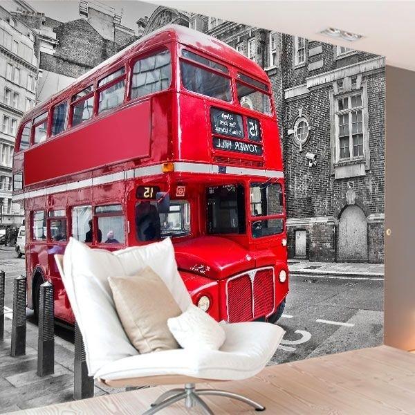 Foto mural autocarro em Londres