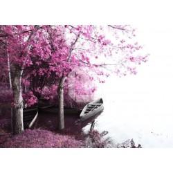 Papel de parede barco no rio