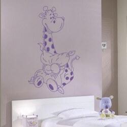 Vinil infantil girafinha