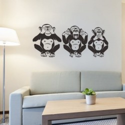 Vinil três macacos