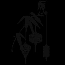 Vinil ramo com candeeiros
