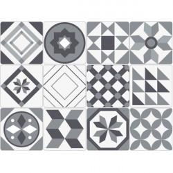 Azulejos adesivos branco e negro