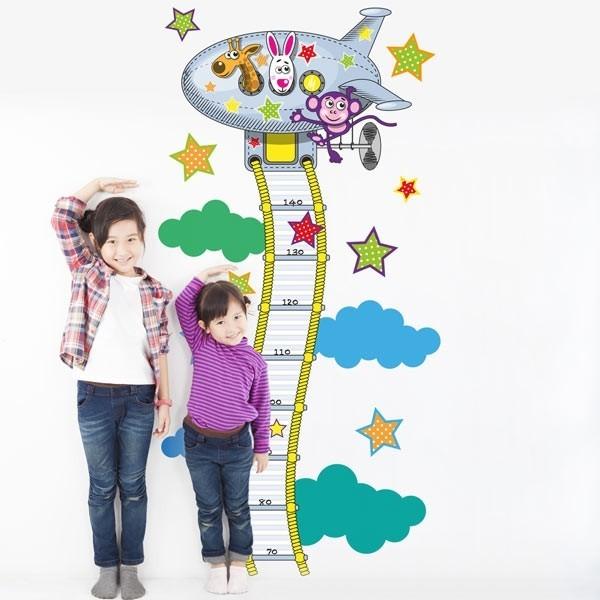 Vinil infantil de avião medidor