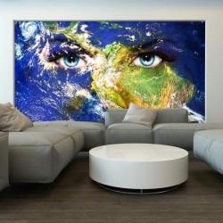Papel pintado mundo com olhos