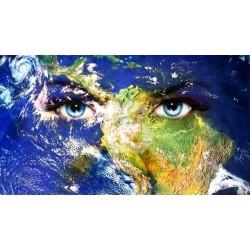 Foto mural mundo com olhos