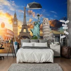 Foto mural monumentos do mundo