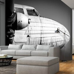 Papel de parede avião vintage