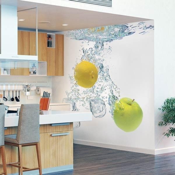 Foto mural água com frutas