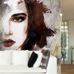 Papel de parede cara aquarela