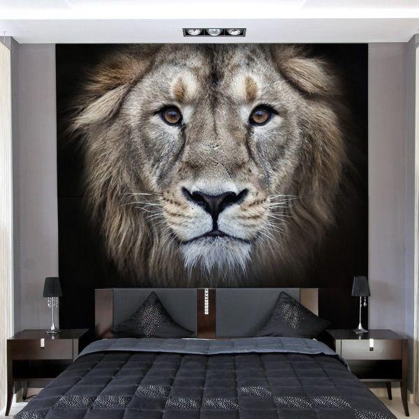 Foto mural cabeça de leão