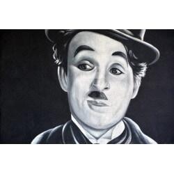 Mural pintura de Charlie Chaplin