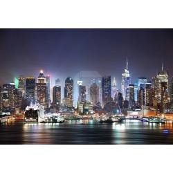 Mural New York de noite