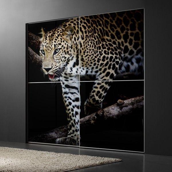 Papel pintado leopardo africano