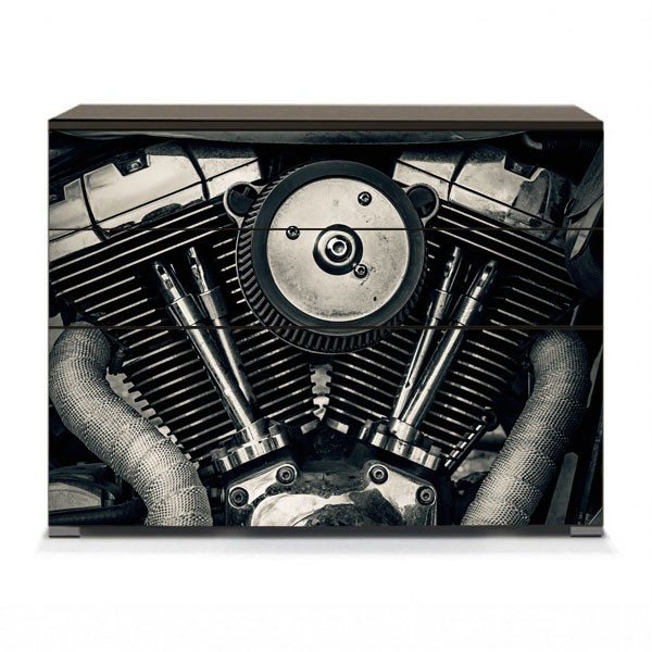 Vinil móveis motor moto Harley
