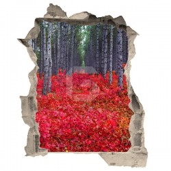 Adesivo ilusão de ótica floresta