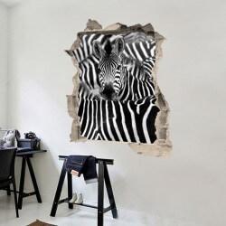 Autocolante ilusão ótica zebra