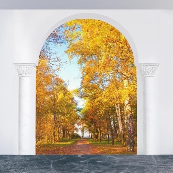 Adesivo de ilusão ótica árvores
