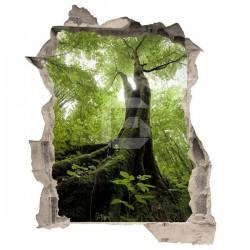 Autocolante ilusão ótica árvore