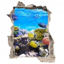 Autocolante de ilusão ótica peixes
