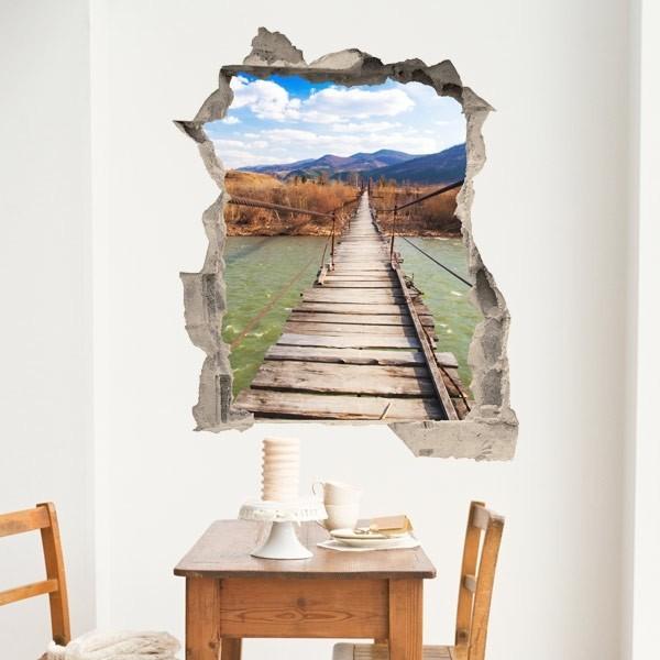 Vinil de ilusão ótica ponte