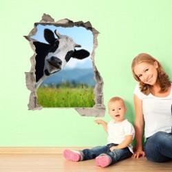 Vinil ilusão ótica vaca