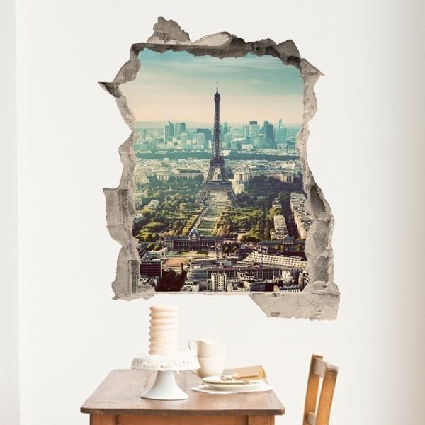 Vinil ilusão ótica Torre Eiffel