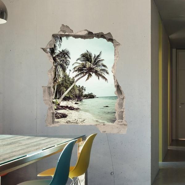 Adesivo ilusão ótica praia 1