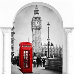 Mural de ilusão ótica Londres