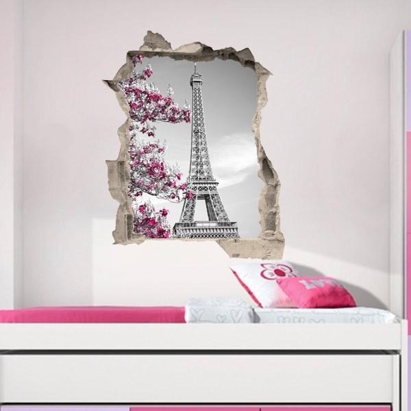 Vinil buraco de parede Torre Eiffel