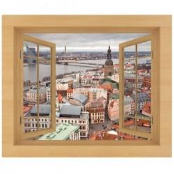 Vinil decorativo janela Letónia