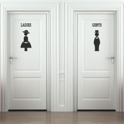 Autocolante silhuetas wc 2