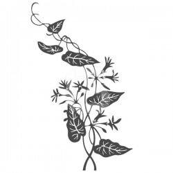 Vinil de parede ramo com flor 1