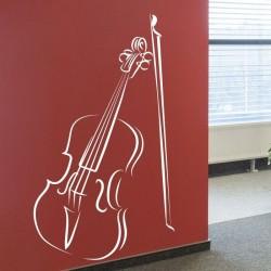 Vinil de música com violino
