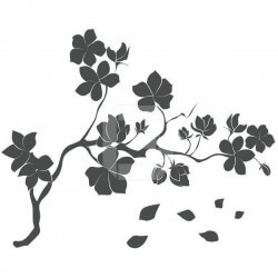 Vinil ramo com flor 2