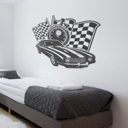 Vinil decorativo muscle cars