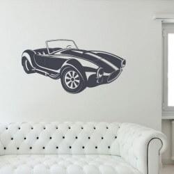 Vinil de parede carro cobra