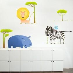 Autocolante animais da selva