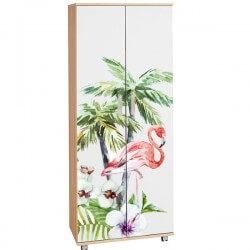 Vinil flamingo com palmeiras