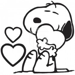 Vinil Snoopy apaixonado