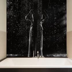 Mural de parede mulher à chuva