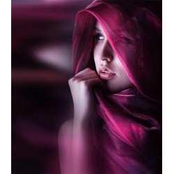 Foto mural mulher com echarpe