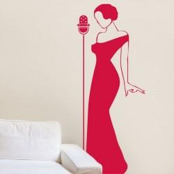 Vinil decorativo cantor