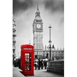 Mural cabine de telefone Londres