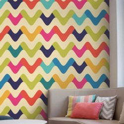 Papel de parede ondas de cores