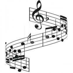 Vinil de parede notas musicais 2